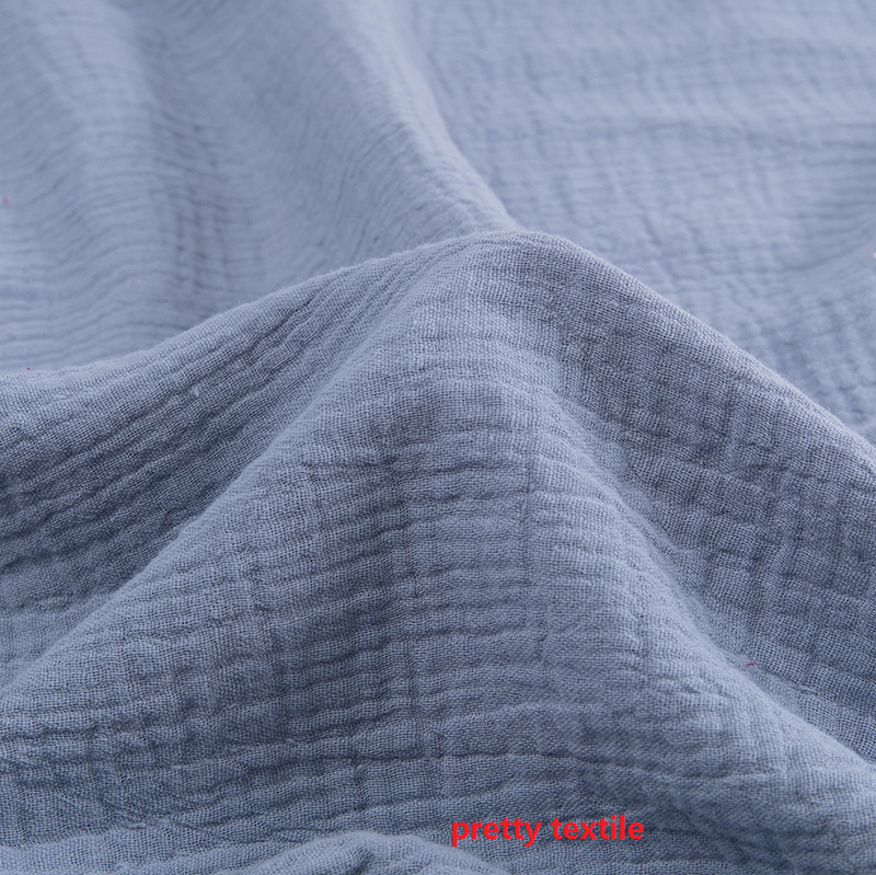 factory wholesale small MOQ 100% cotton double layers muslin gauze 100% cotton fabric for baby cloth and pajama