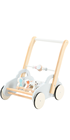Baby Wooden Baby Toy Suitable Kid Play New Interesting Mdf Clock Cart Toy Solid Wood Toys Multifunction Baby Wood Walker