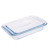 Hot sale oven safe high borosilicate glass dish baking tray