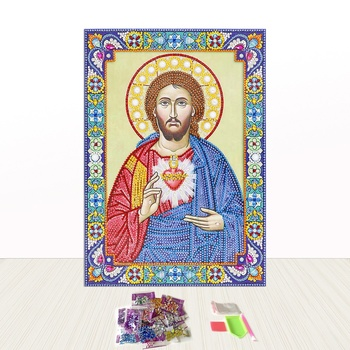 Religious Jesus Portrait Special Cross Stitch Crystal Diamond Painting 5D