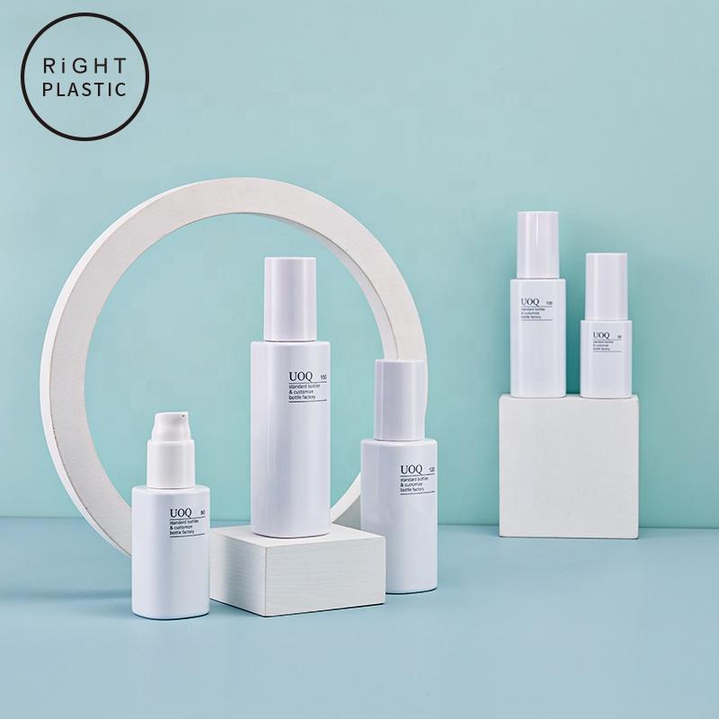 Square shape PET 50-150ml Empty Plastic container for Facial essence emulsion Moisturizing spray