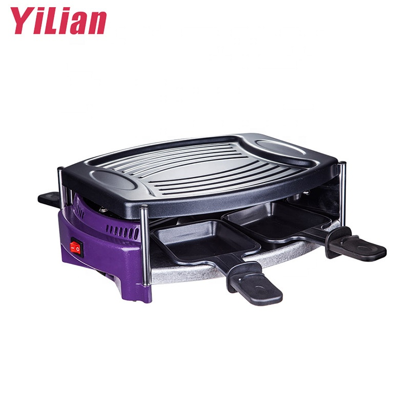 Indoor table smokeless home use Indoor electric flat BBQ mini grill raclette grills and teppanyaki maker