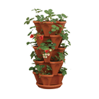Pots Flower Garden Planter Stackable Planter Pots Garden Outdoor Strawberry Herb Flower Vegetable Vertical Gardening