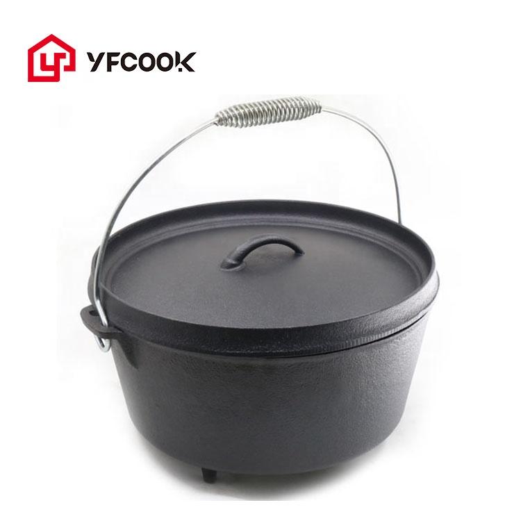lidded dutch oven cookware camping enameled cast iron dutch oven