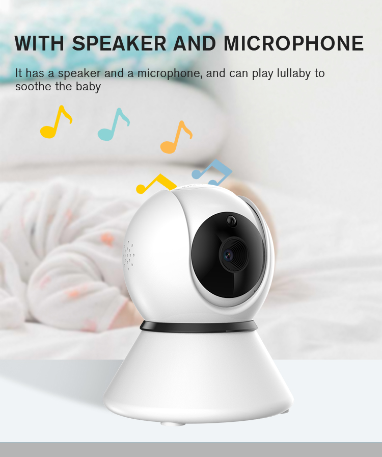 5 Inch Wireless Video And Audio Baby Monitor with Camera Digital Night Vision Monitor for Security and Safety