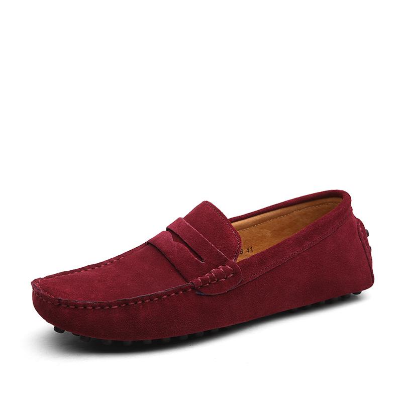 Мокасины мужские замшевые, удобные лоферы, модная обувь для вождения