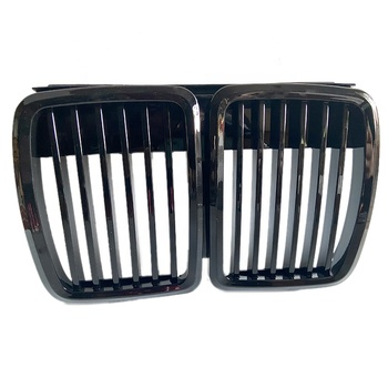 Front Kidney gloss Black Grill Grilles Styling Accessory For BMW E30 318 320 325 1982-1994 Car Front Bumper Grille