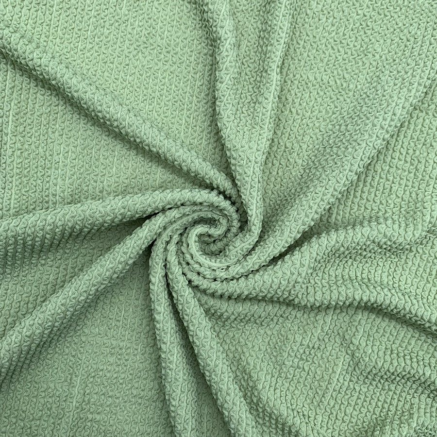 Popular stretch crinkle seersucker nylon spandex fabric for swimwear bikini