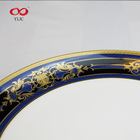 Luxury Wedding Dishes Blue And White With Gold Rim For Party To Serve