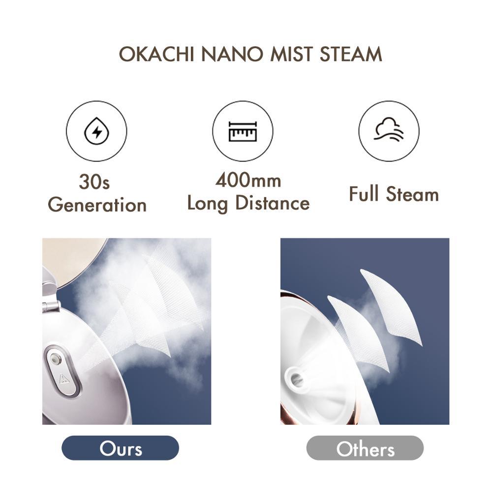 Бак для воды 80 мл Профессиональный домашний электрический горячий туман глубоко увлажняющий увлажнитель для лица наноионный парогенератор для лица