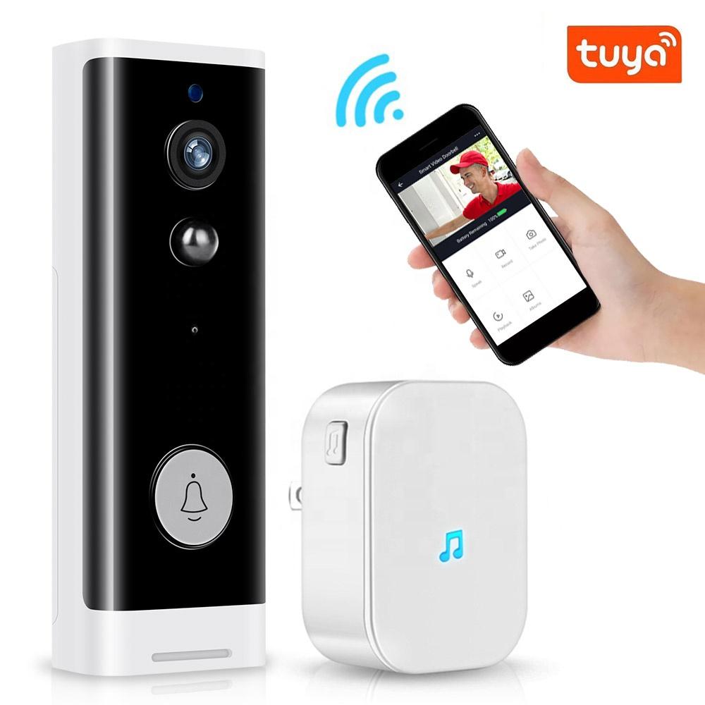 Low Power 1080P HD WiFi Video Door Bell Waterproof Wireless Smart Camera Doorbell for Apartment Night Vision Tuya APP Ring