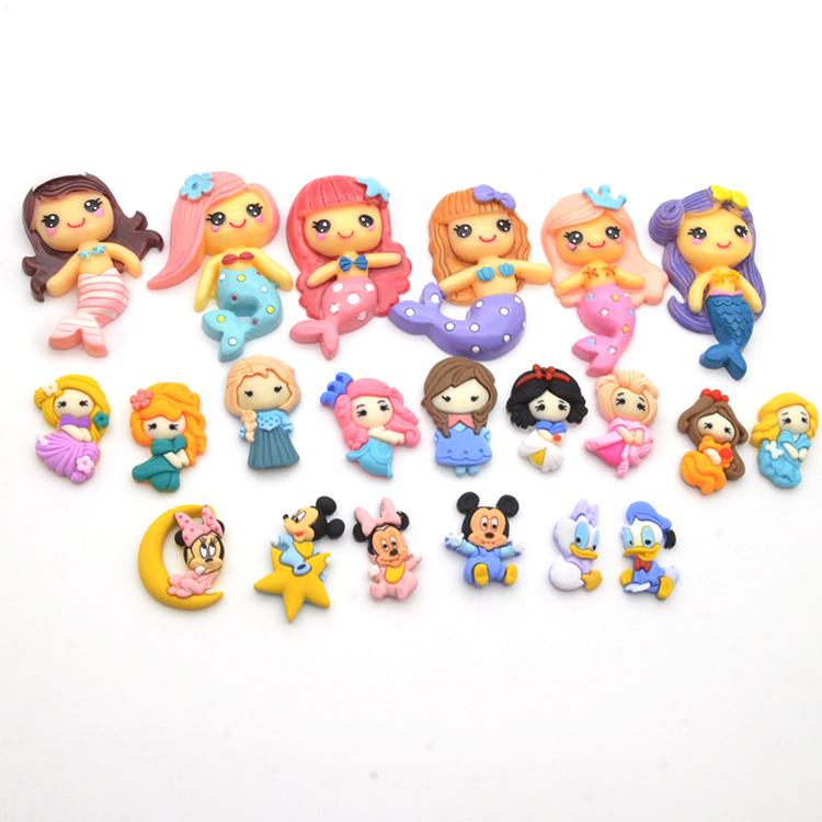 craft supplies kawaii cute embellishment cartoon princess flatback accessories resin