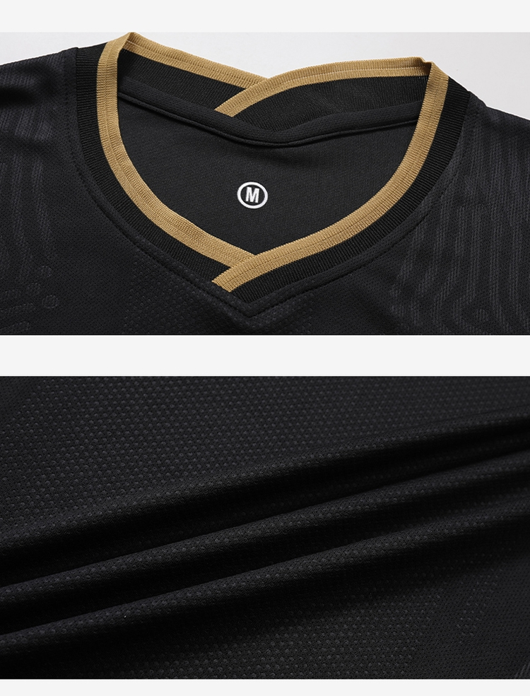 Professional production wholesale black custom soccer jersey set for adult