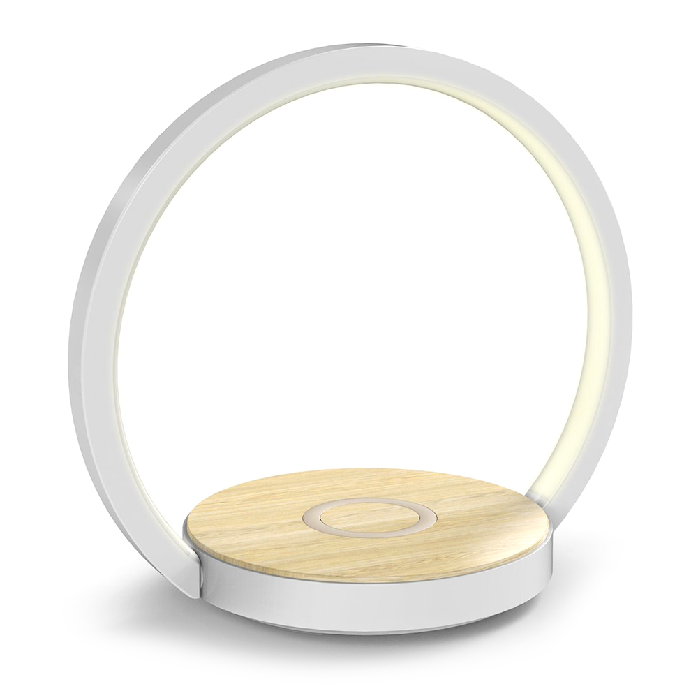LED Desk Lamp, Dimmable 3 Brightness Light Eye-Caring Table Lamp luxury modern With Wireless charging