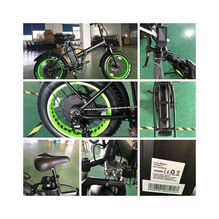Велосипед складной электрический велосипед 1000 Вт с батареей