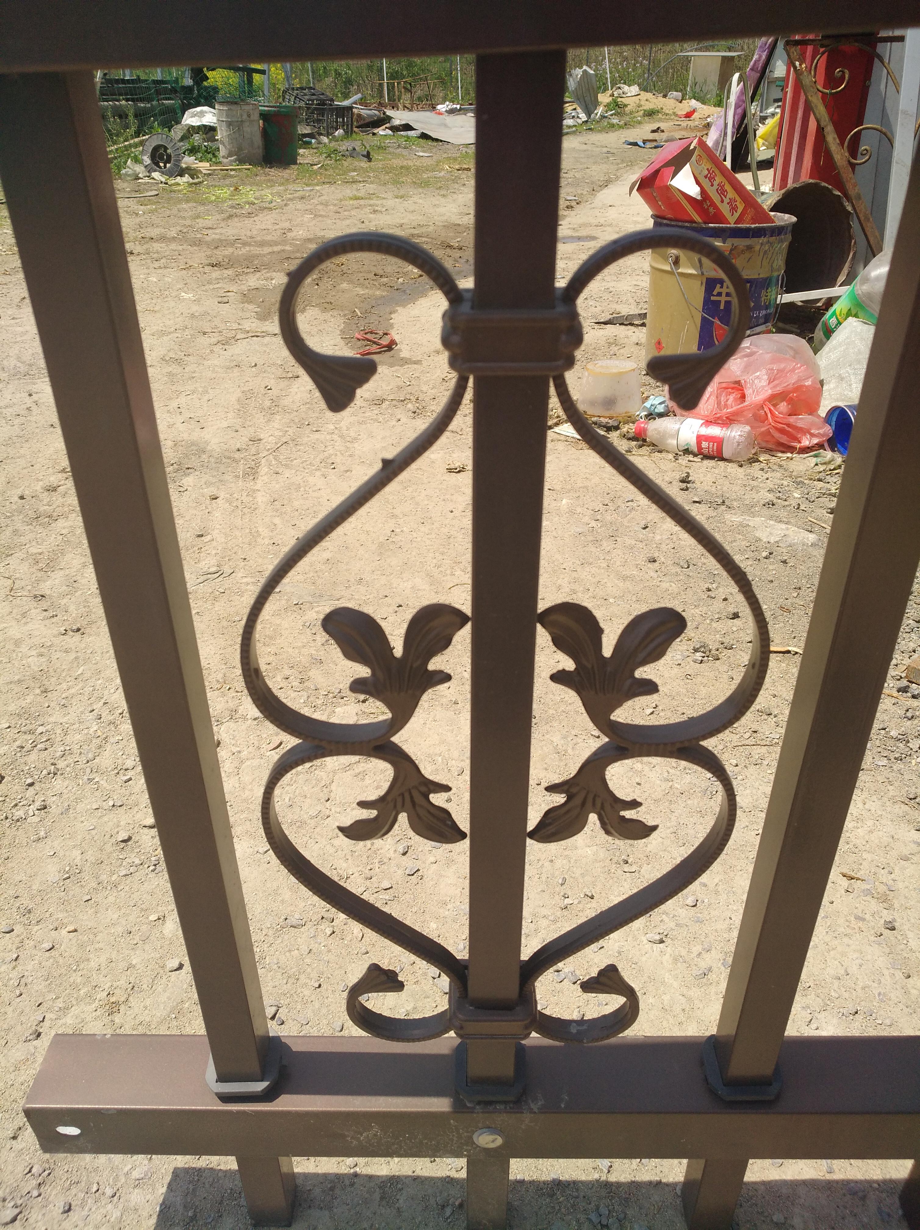 Конструкция железных ворот с основной дверью под заказ, кованая железная ограда, решетчатая ферма