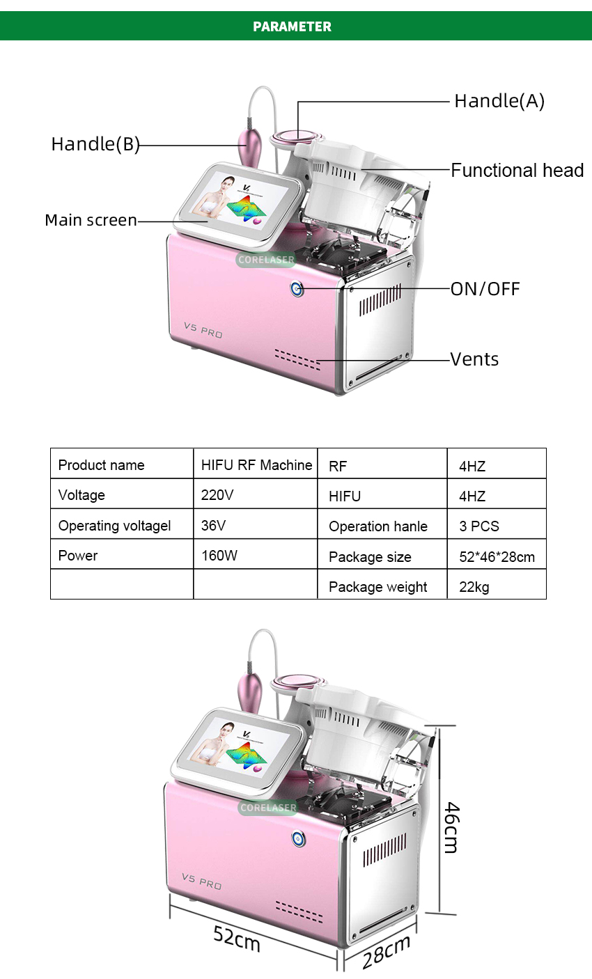 Beauty salon equipment HIFU RF Body slimming machine