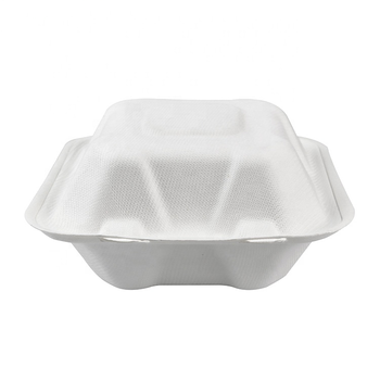 Bagasse Fast Food Takeaway Compostable Eco-friendly Biodegradable 6 Inch Hamburger Box