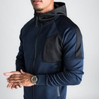 Casual Hoodie For Hoodies Custom Tag Fashion Casual Hiqh Quality Long Sleeve Blue Blank Hoodie And Joggers Set For Men