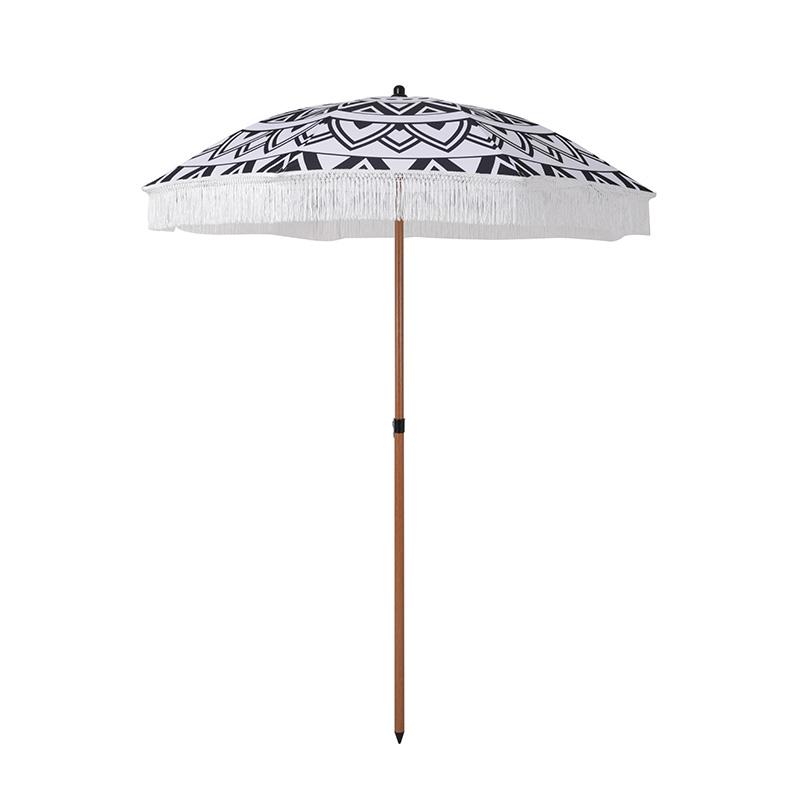 Складной пляжный зонт Topmax с рисунком и бахромой