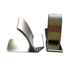 Custom brushed stainless steel corporate money clip with logo printed