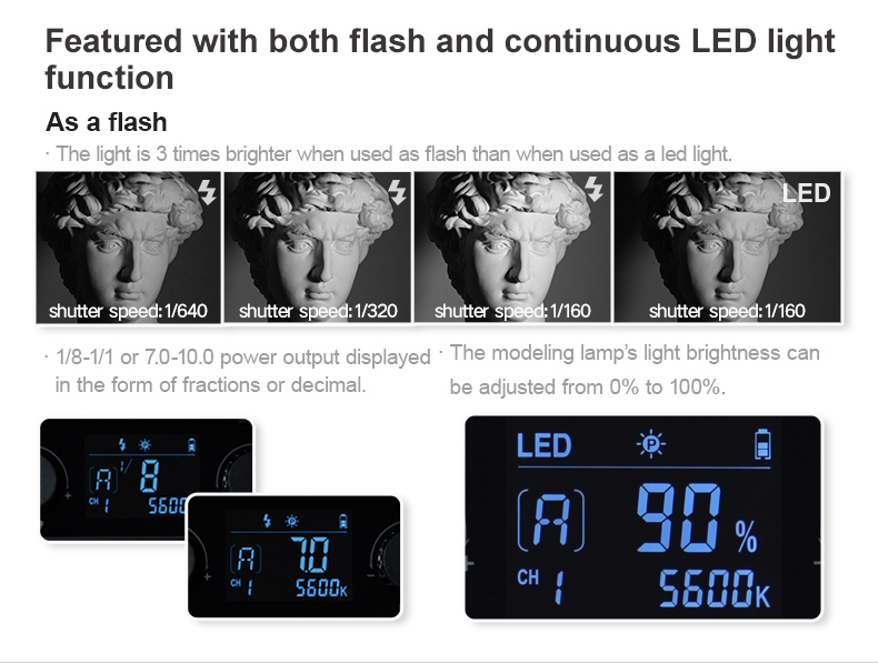 Godox LF308BI Variable Color LED Video Light with Flash Sync 308 Bulbs As LED Light Flash For Macro Wedding Life Photography