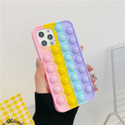 Case Push Buddle Fidget Popper Spinner Reliver Stress Toys Antistress Toys Back Cover Popit Rainbow Bubble Pop Its Phone Case