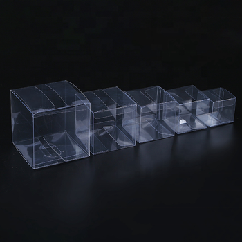 Wholesale Custom Recyclable Square PVC Clear Plastic Box