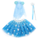 Children Skirts Skirt Children Skirts Puffy Tulle Embroidered Snowflake Girls Party Tutu Skirt Set With Wand Headband