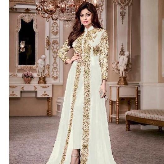 Heavy Embroidery Designs Salwar Kameez / Dress Material Salwar