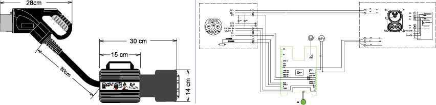 Electway CCS2 to GBT adapter CCS2 type2 adapter