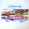 colorful glasses frame with pet panel