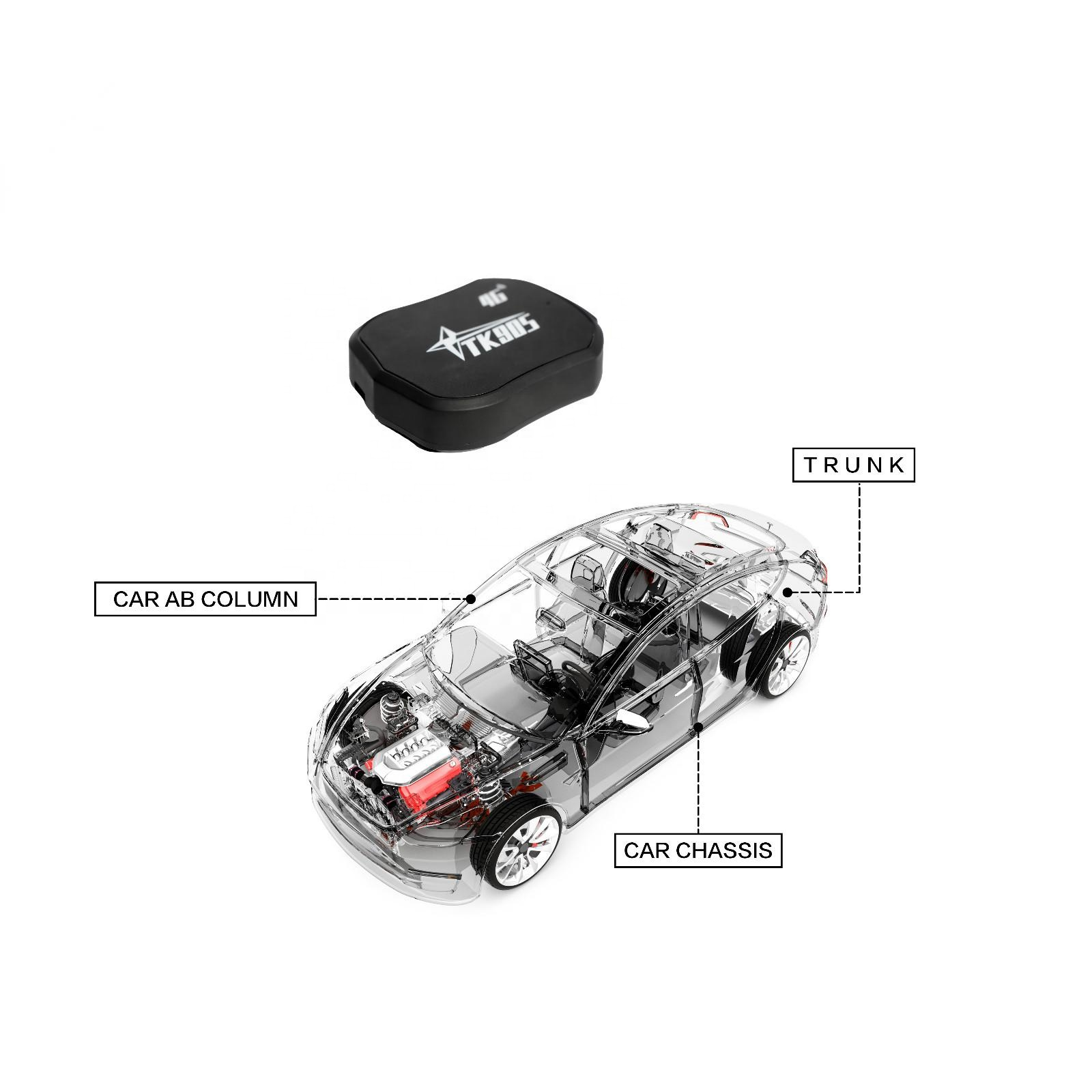 4G GPS Tracker TK905 5000mAh Vehicle Car Locator Tracking Device Voice Monitor for Container cargo Asset Fleet Management
