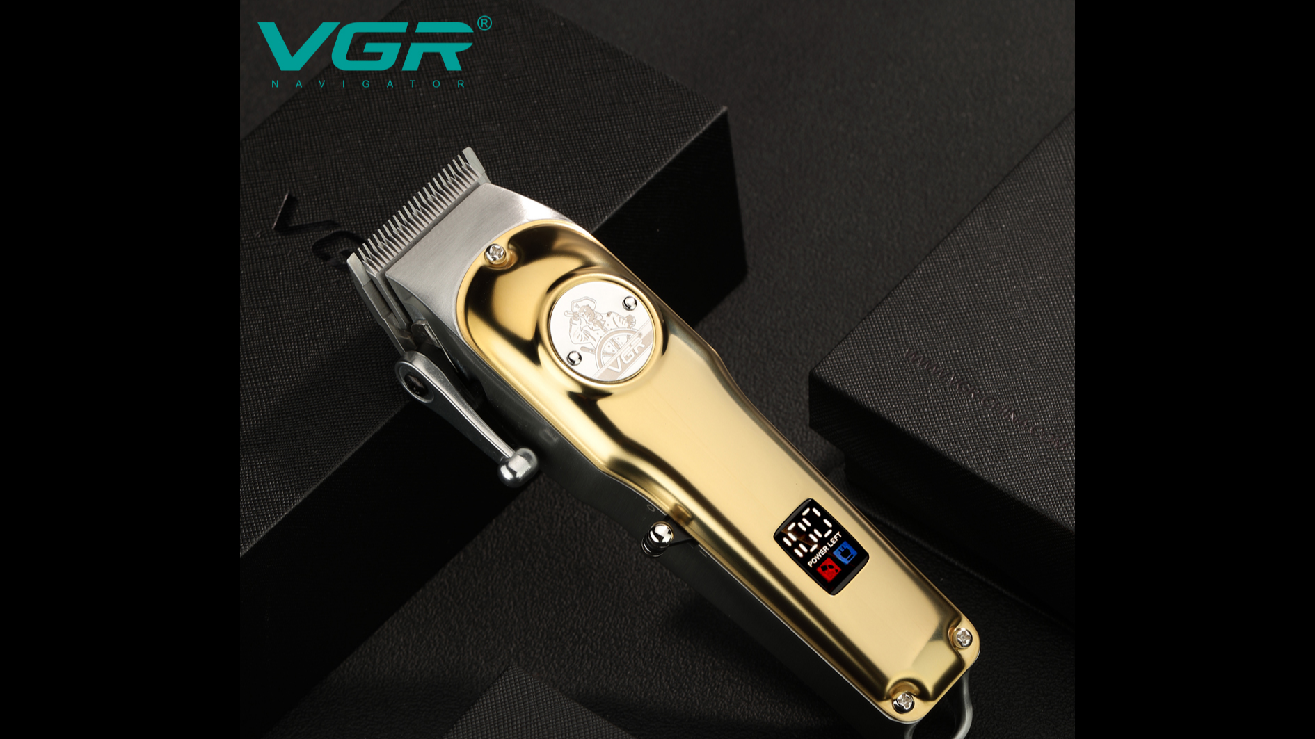 VGR Rechargeable Hair Clipper  V-181  professional electric rechargeable hair trimmer mozzer with LED display
