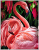 Oil Canvas Flamingo