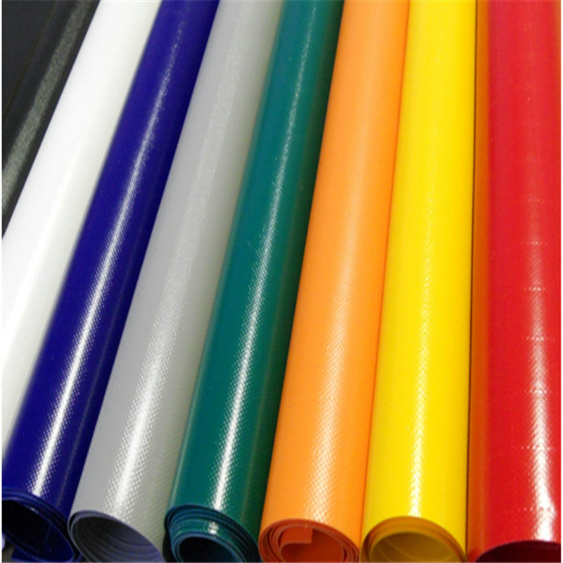 0.9mm Thickness 1100 dtex Polyester PVC Tarpaulin Inflatable Boat Fabric