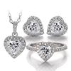 heart moissanite jewelry set