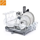 eco friendly compact dish rack kitchen dish drainer drying rack draining tray wire plate rack for countertop
