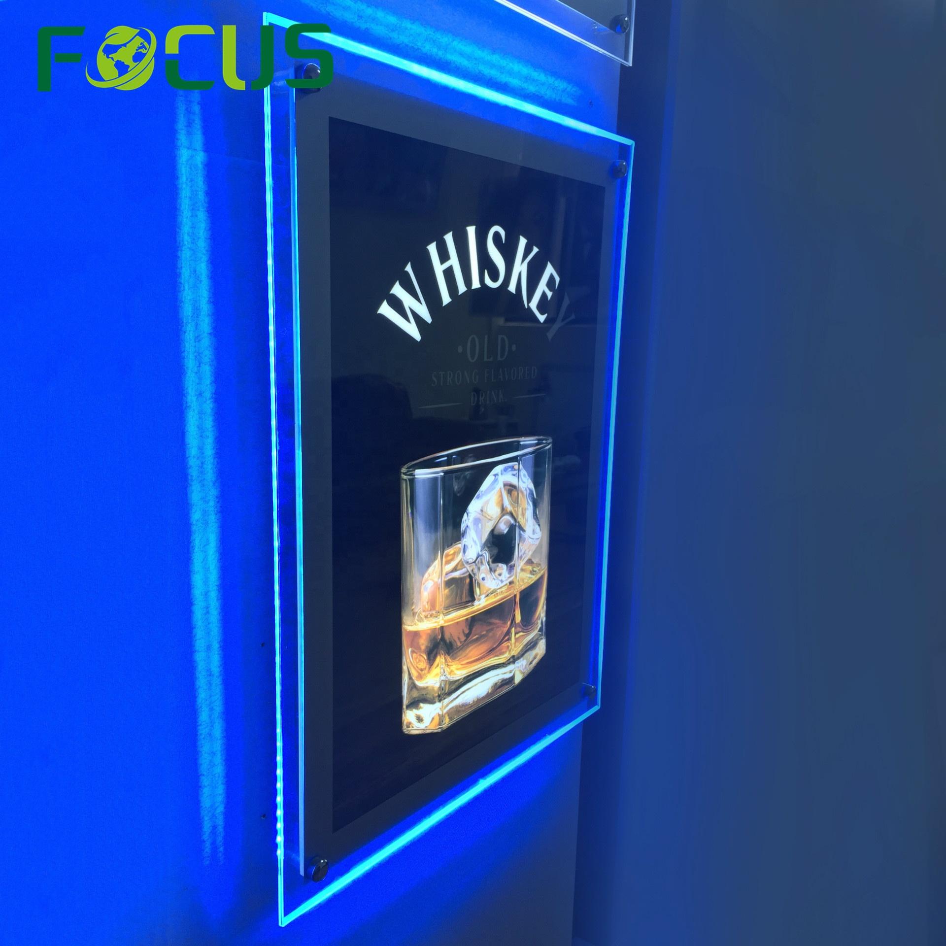 Легко меняющийся Графический светодиодный акриловый постер для фильмов A0 A1, рекламный настенный Лайтбокс