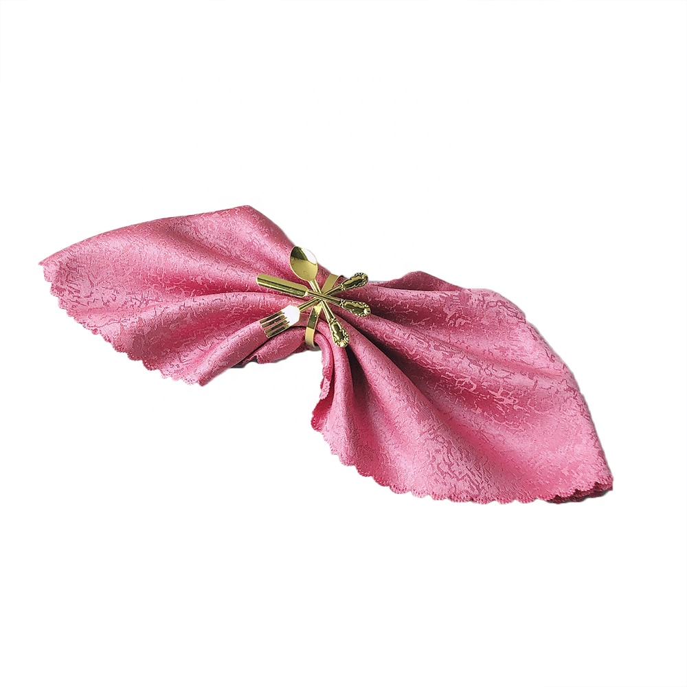 Jacquard Floral Pattern Cloth Napkins for Weddings
