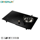 Factory Price Modern Design Home Kitchen Appliances Infrared 2 Burner Hob Combine Gas Stove Electric Induction Cooker Cooktop