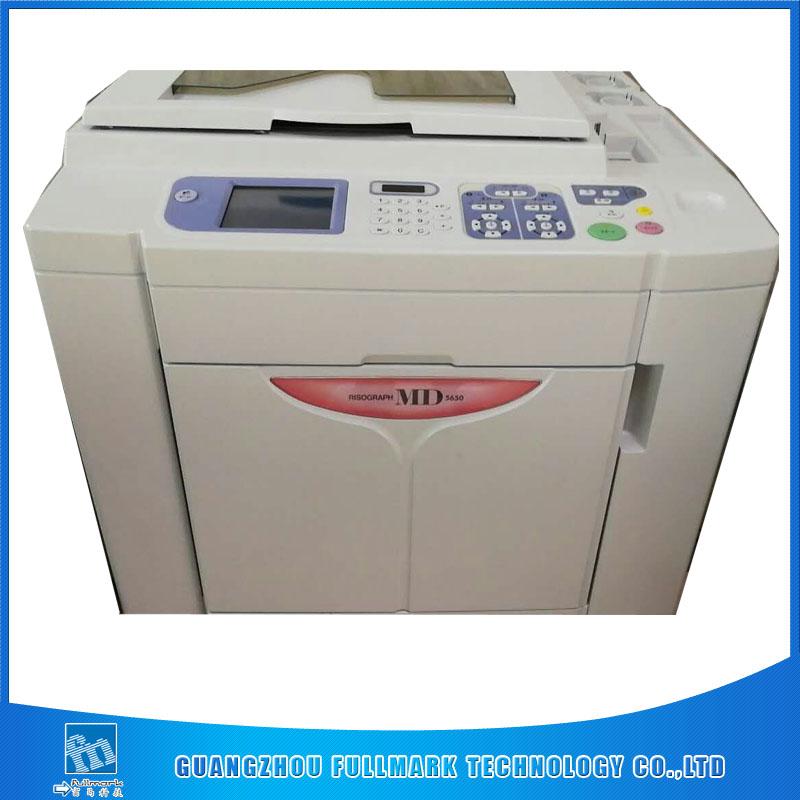 used Risos digital printer two color machine MD5650 used risograph duplicator