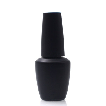 Unique Matte Black 10ml 15ml Custom Empty Glass Nail Polish Bottle