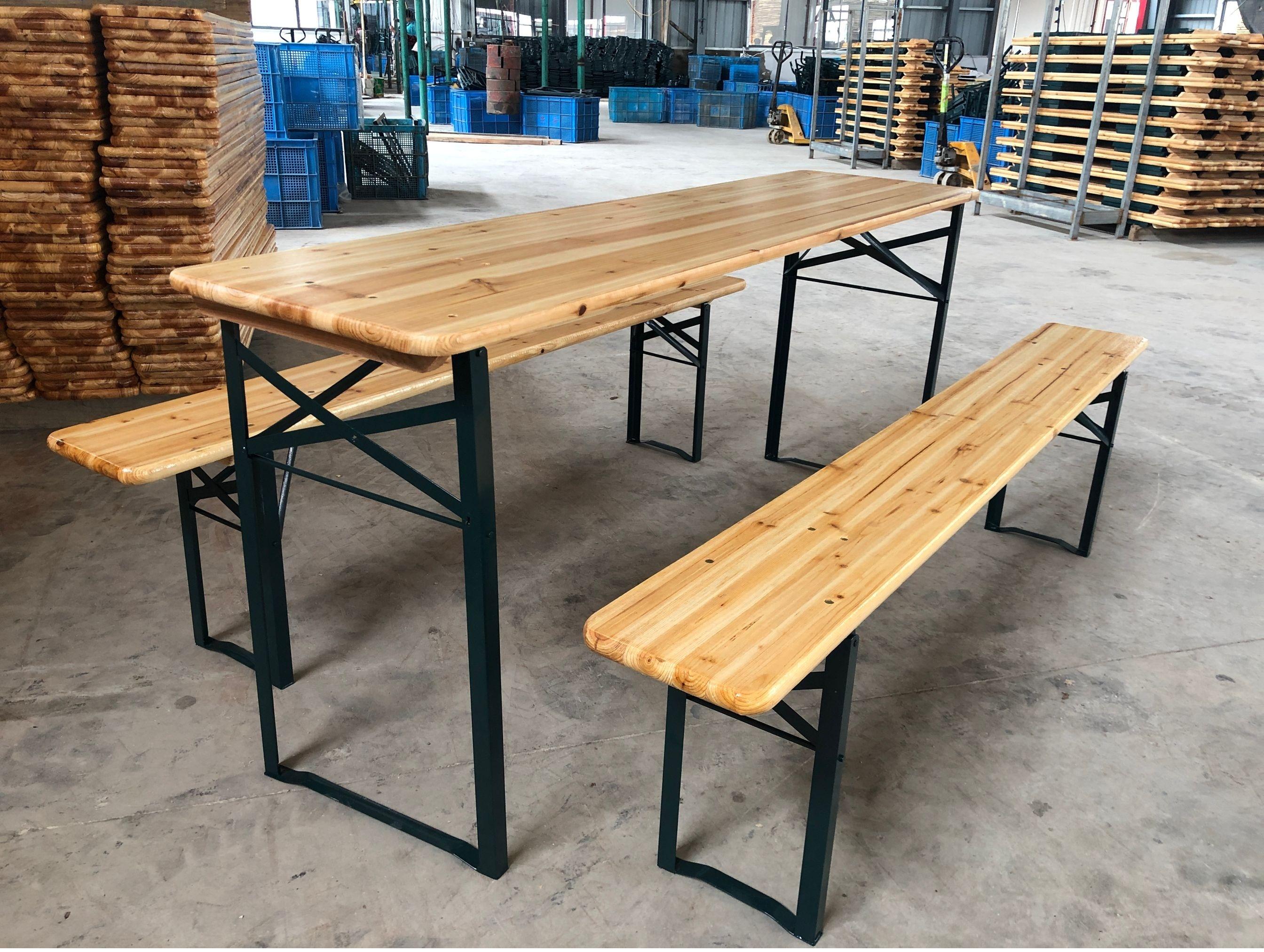 Уличная мебель, деревянный складной стол и скамейка для пикника и кемпинга