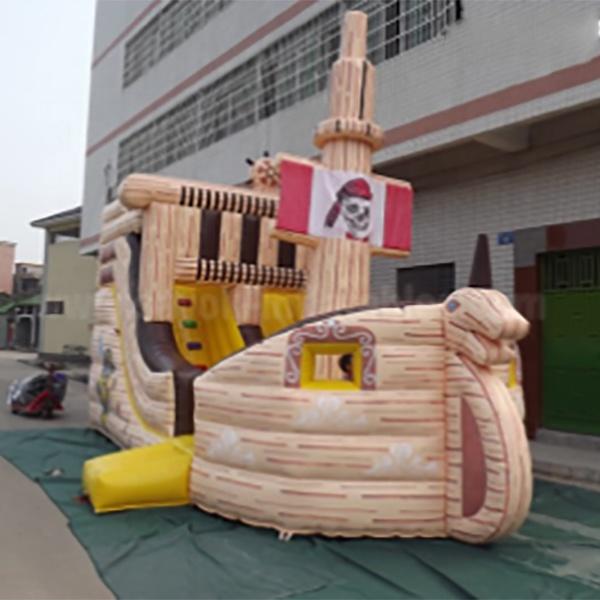 Гигантская надувная горка пирата, Детские батуты, джемперы, б/у надувные замки для продажи