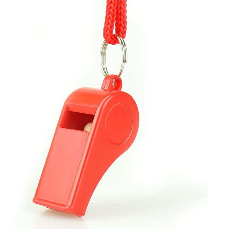 Emergency Safety Plastic Lanyard Survival Whistle