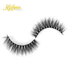 Mink Special For Vegan Customer Highly Similar To Real Mink Eyelash With Messy And Fluffy Looking But 3D Synthetic Fiber Eyelash Dist