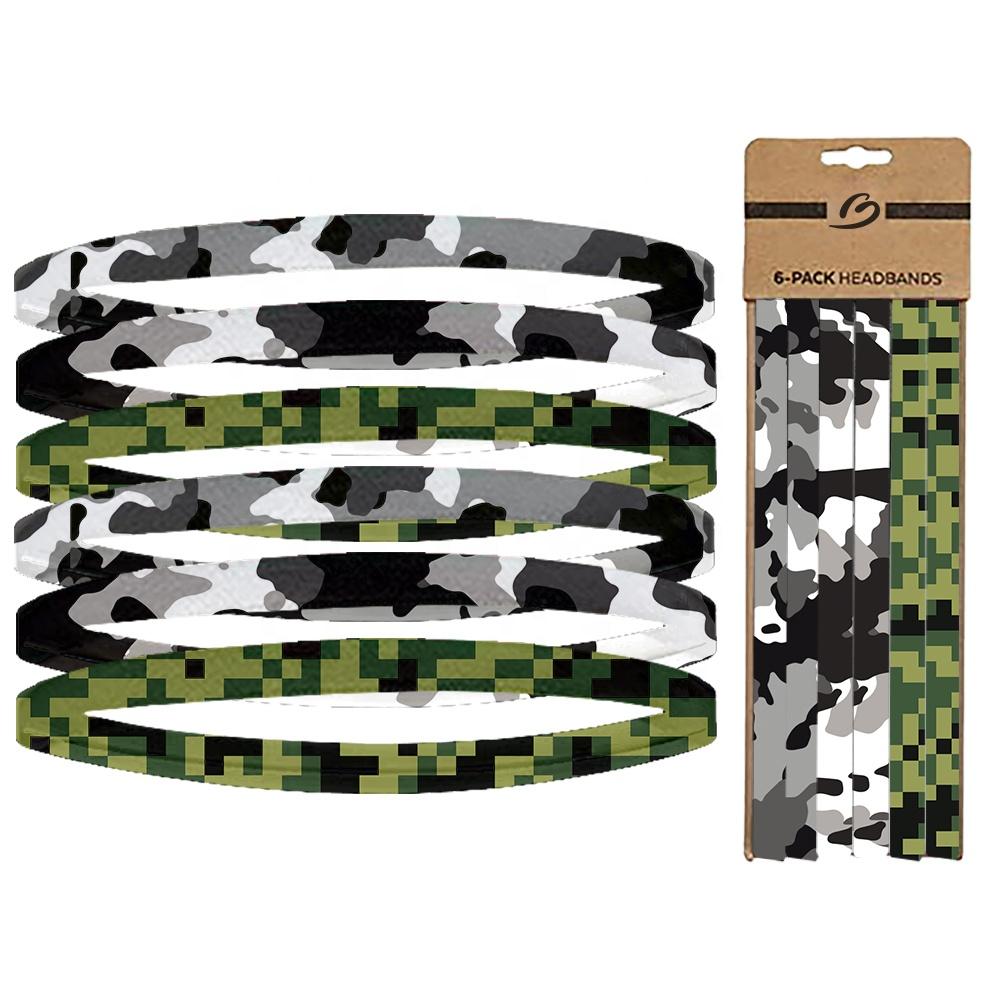 Оптовая продажа, нескользящая Спортивная эластичная силиконовая повязка на голову с логотипом на заказ для мужчин и женщин