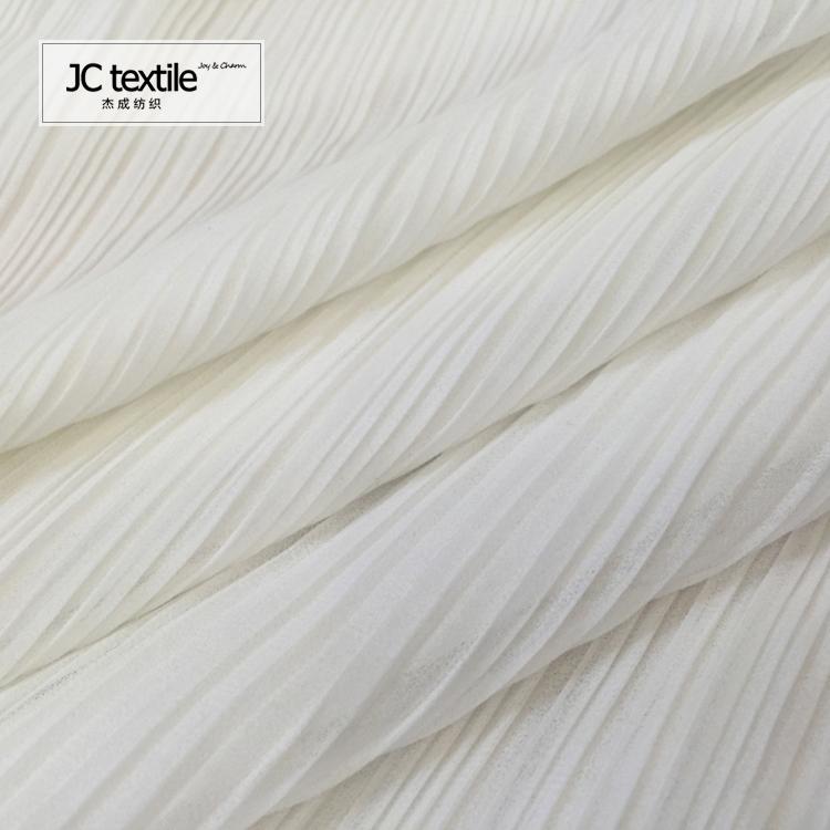 AR2328 100% polyester ITY fabric pleated ity fabric chiffon fabric