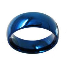 Прямая поставка индивидуальное имя DIY логотипы 8 мм черные/серебряные/Золотые синие титановые кольца персонализированные ювелирные издели...(Китай)